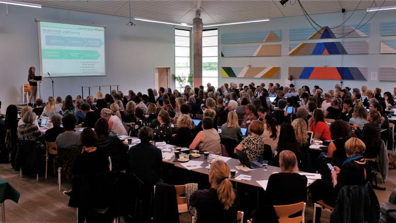 Billede fra konference om undervisning af ordblinde børn og unge