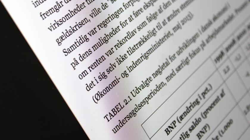 En side i en e-bog