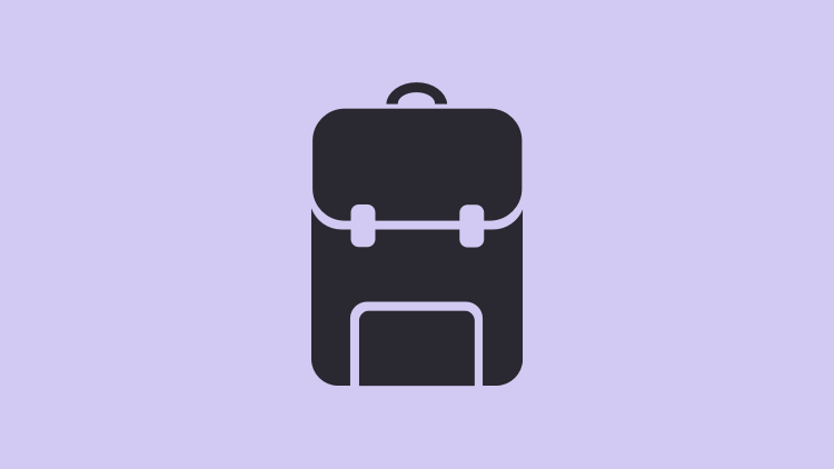 Piktogram af skoletaske