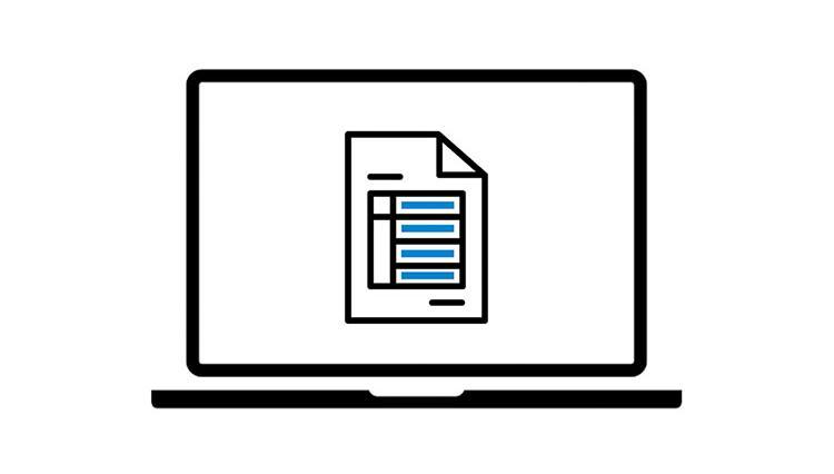 Illustration af ansøgningsskema der udfyldes digitalt