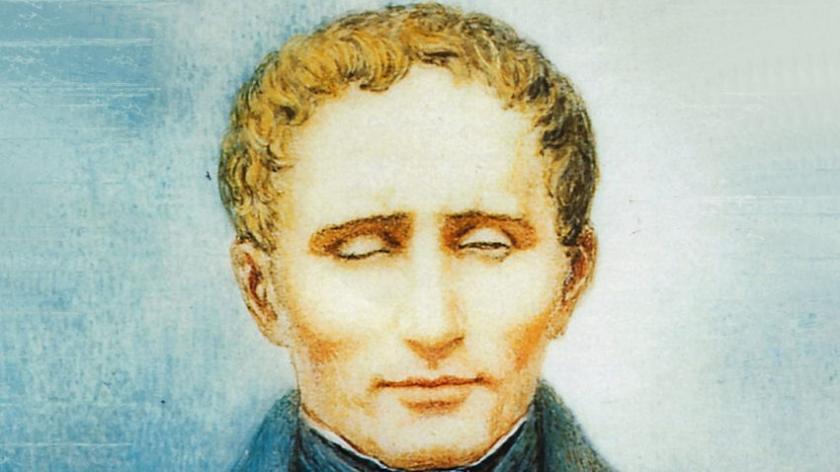 portræt af Louis Braille