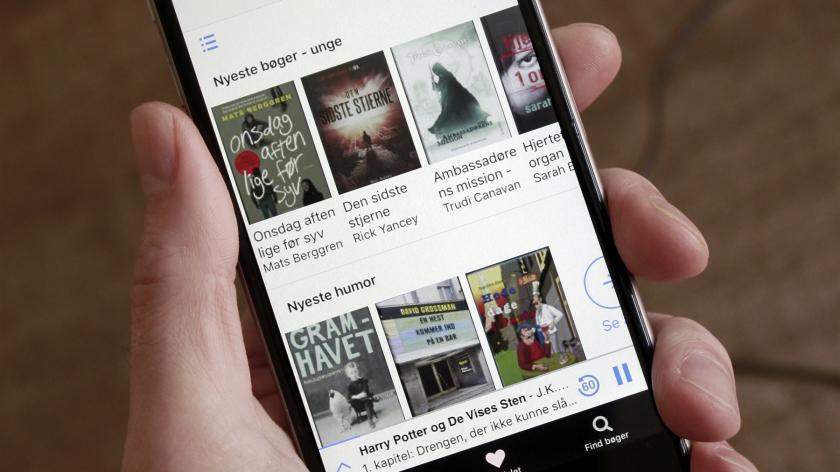 Billedet viser siden Anbefalet i appen Nota Bibliotek