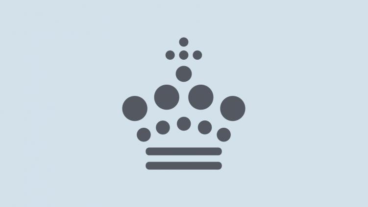 Nota logo: Kongekrone af punktskrift
