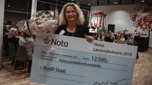 Vinder af Notas Læsevejlederpris 2018: Bodil Staal, Læsevejleder på Brørupskolen i Vejen Kommune