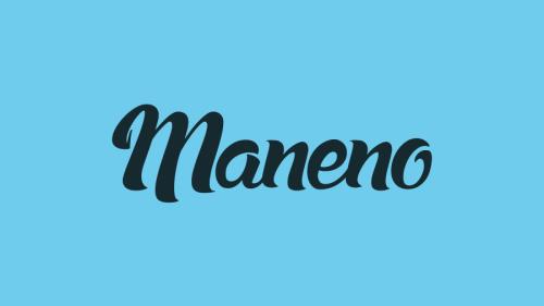 Skilt med Maneno-navnet