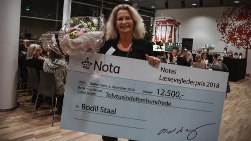Billede af vinder af Notas læsevejlederpris 2018, Bodil Staal