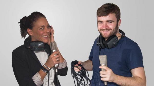Sanne og Andreas, der laver podcasten Jeg er ordblind