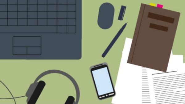 Grafik af et skrivebord
