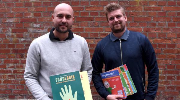 Michael Højbjerg og Thomas Mose der smiler