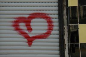 Graffitti hjerte