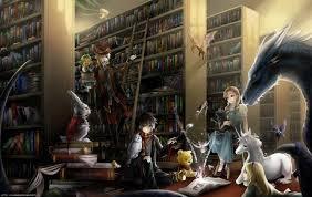 Fantasy-figurer blandt bogreoler